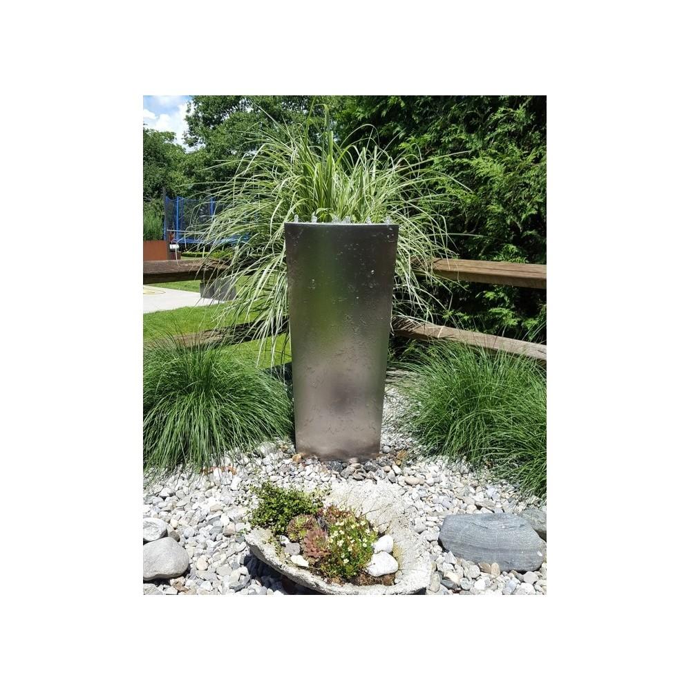 Gartenbrunnen Edelstahl Modell ELLIPSE
