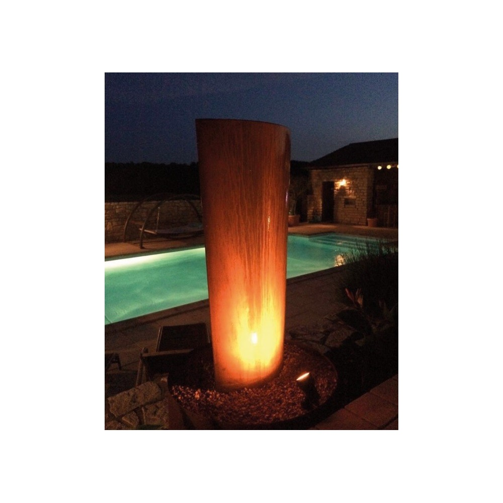 Gartenbrunnen Cortenstahl Modell ELLIPSE